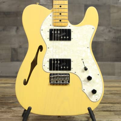 Fender Vintera '70s Telecaster Thinline Electric Guitar Vintage Blonde for sale