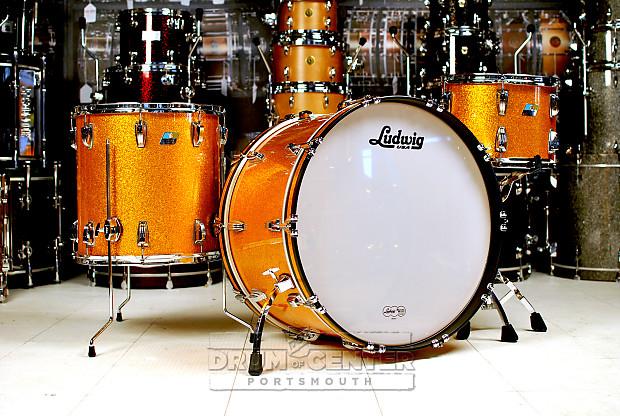 ludwig classic maple 3pc drum set gold sparkle reverb. Black Bedroom Furniture Sets. Home Design Ideas