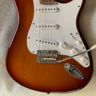 Fender Player Stratocaster Strat Deluxe Sunburst Upgrades for sale