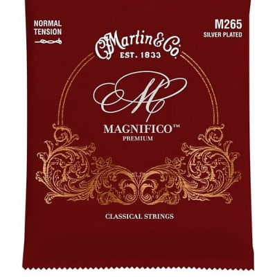 Martin M265 Magnifico Normal Tension Plain End Silverplated Strings