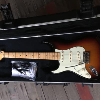 Left Handed Fender American Deluxe Stratocaster 2010 Sunburst for sale