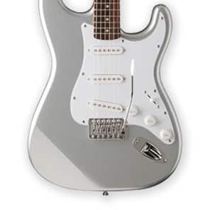 Jay Turser JT-300-CRS 300 Series Double Cutaway 6-String Electric Guitar - Chrome Silver for sale