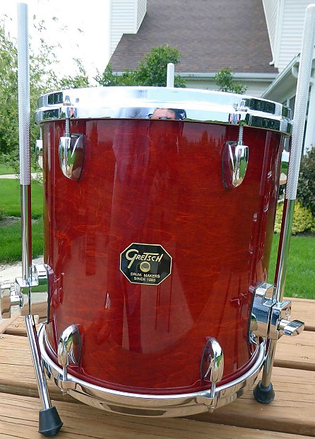 Gretsch usa custom 2013 burnt orange 13 x 13 floor tom tom for 13 floor tom
