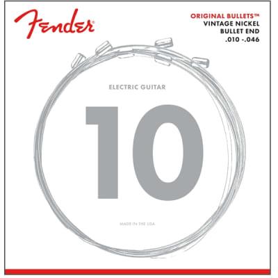 Fender 3150 Original Bullets Guitar Strings - Bullet Ends, Vintage Nickel, 10-46 for sale