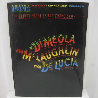Al Di Meola John Mclaughlin Paco DeLucia Friday Night in San Francisco Song Book