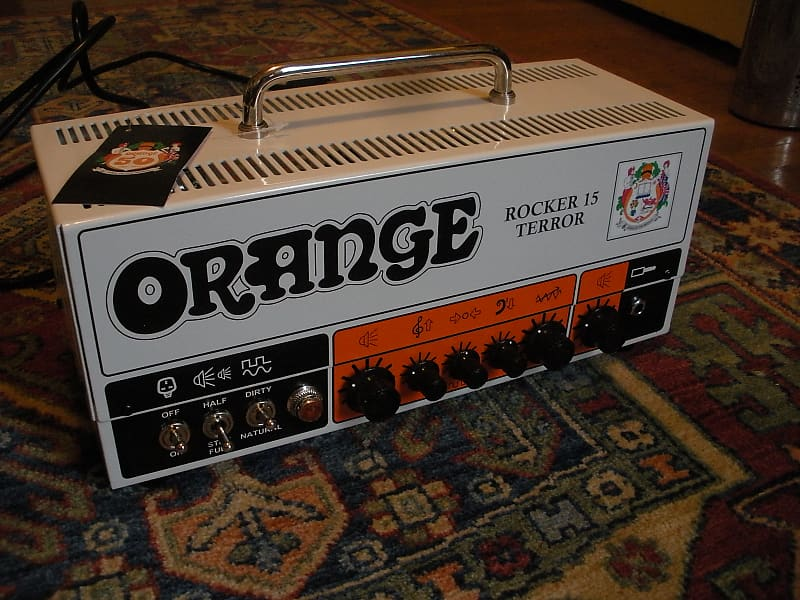 orange rocker 15 terror 2 channel 15 watt guitar amp head reverb. Black Bedroom Furniture Sets. Home Design Ideas