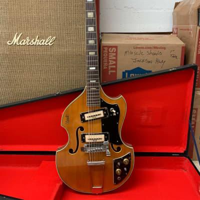 Kent Model 835 12-String 1960s Natural Front / Sunburst Back w/ OHSC for sale