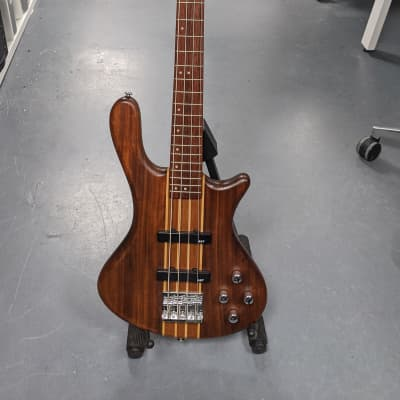 Washburn - T24NMK-D-U - 4 String Electric Bass Guitar - Natural Matte (with Gig bag) for sale