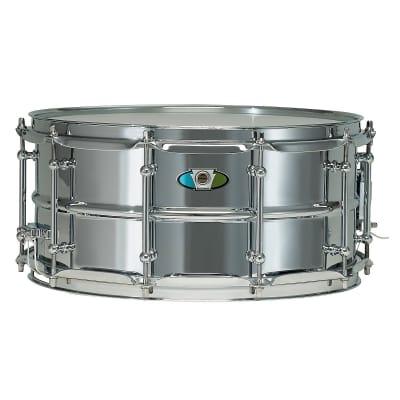 "Ludwig LW6514SL Supralite 6.5x14"" Steel Snare Drum"