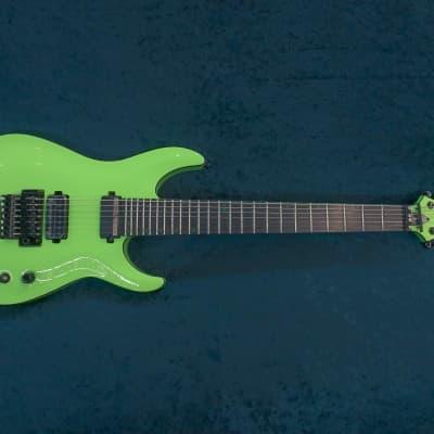 Schecter KM-7 FR S Keith Merrow Signature 7-String Sustaniac w/ Floyd Rose Lambo Green for sale