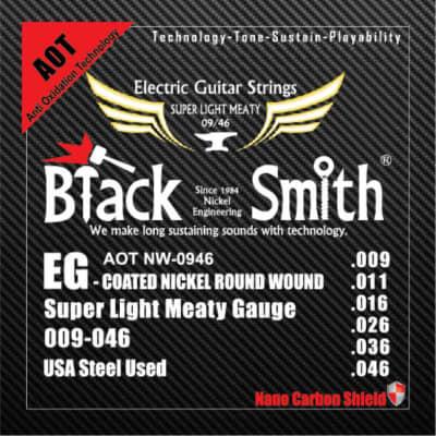 BLACKSMITH Electric 6 String Set, Nano-Carbon Coated, Super Light Meaty - 009 - 046