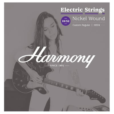 Harmony HE04 Nickel Custom Regular 010-052