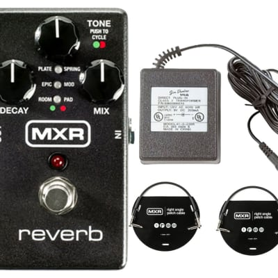 MXR M300 Reverb + Power Supply + Patch Cables for sale