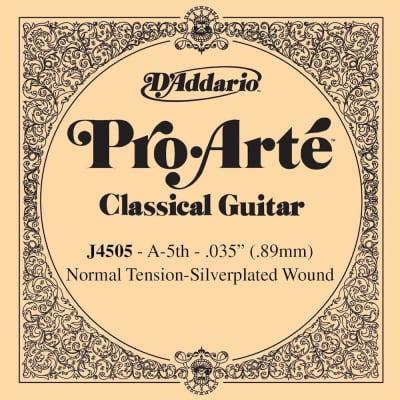 D'Addario J4505 Pro-Arte Nylon Classical Guitar Single String, Normal Tension, Fifth String