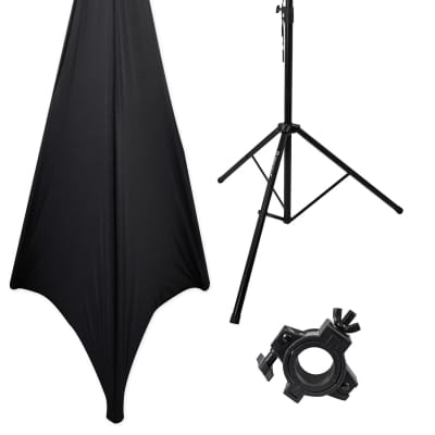 Rockville RVLS1 Lighting Tree Light Stand + Scrim Werks Black Cloth Cover