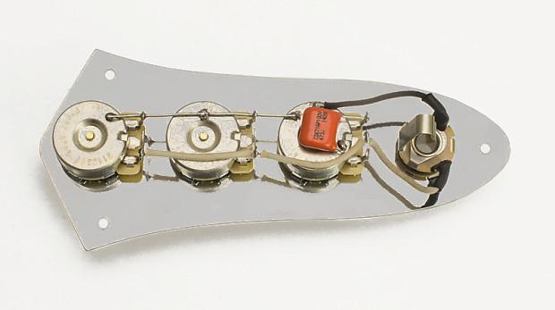 jazz bass wiring harness w plate knobs j reverb. Black Bedroom Furniture Sets. Home Design Ideas