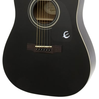 Epiphone DR-100 Dreadnought Acoustic Guitar - Ebony for sale