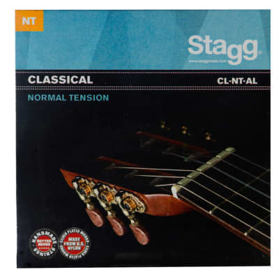Stagg CL-NT-AL Nylon/silver plated wound set of strings for Classical guitar for sale