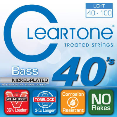 Cleartone Treated Light 40 - 100 Bass Strings