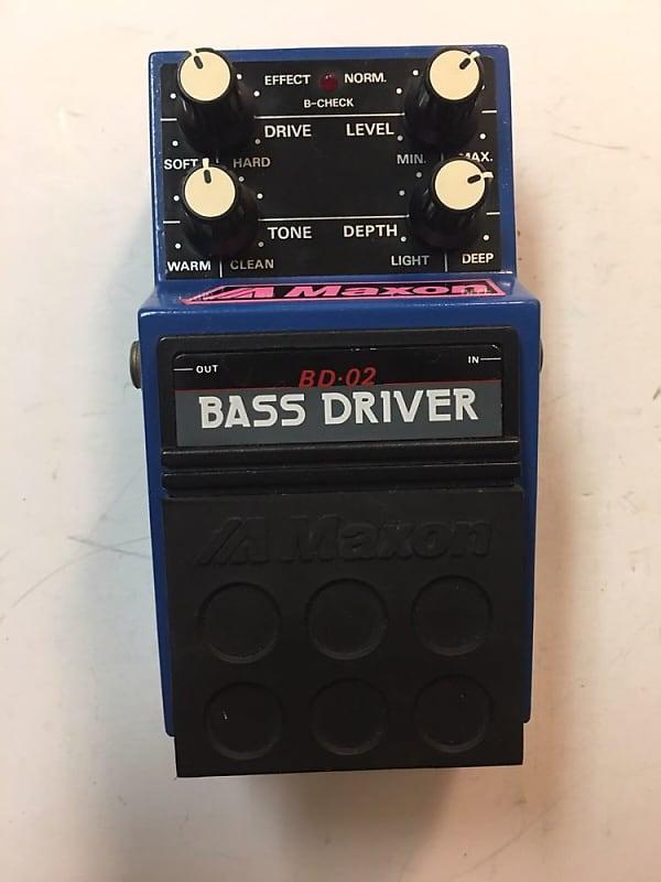 maxon bd 02 bass driver distortion overdrive rare vintage reverb. Black Bedroom Furniture Sets. Home Design Ideas