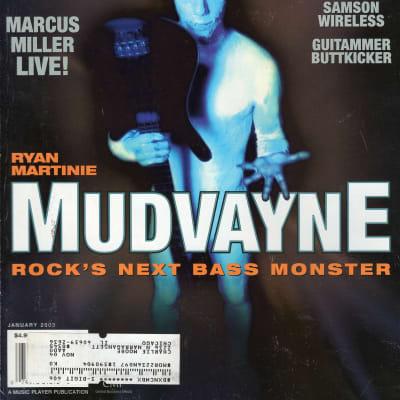 Bass Player January 2003 Mudvayne Taproot T-Bone Wolk Marcus Miller Nicki Parrot
