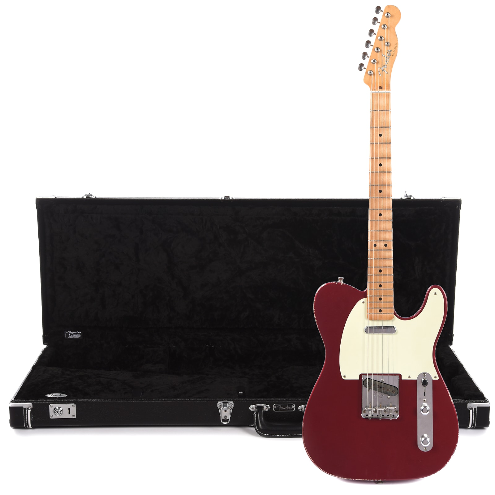fender road worn 39 50s telecaster mn candy apple red cme exclusive and classic series black. Black Bedroom Furniture Sets. Home Design Ideas