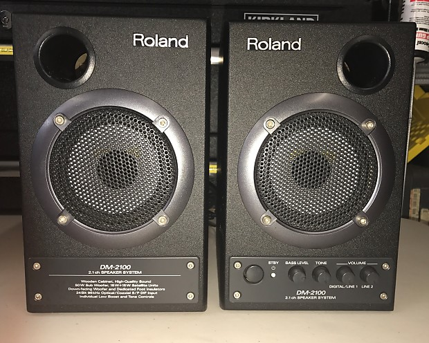 Goede Roland DM 2100 2.1 Active Monitor Speakers Sub-Woofer 2 | Reverb EP-87