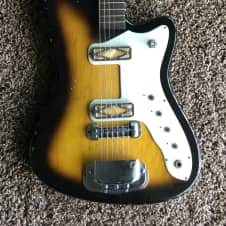 Vintage 1960\'s Silvertone WG-4L Electric Guitar! Four Pickup | Reverb