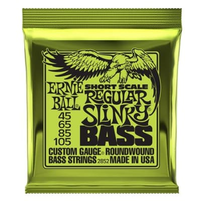 Ernie Ball P02852 Regular Slinky Nickel Wound Short Scale Bass Strings