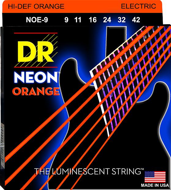 10 pack dr neon hi def orange electric guitar strings noe 9 reverb. Black Bedroom Furniture Sets. Home Design Ideas