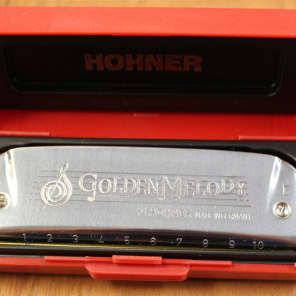 Hohner 542BL-E Progressive Series Golden Melody Harmonica - Key of E