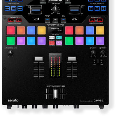 Pioneer DJ DJM-S9 2-Channel DJ Mixer for Serato DJ with Dual USB Audio Interfaces