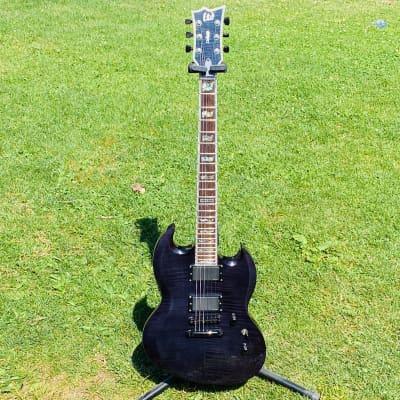 ESP LTD Viper-1000 Deluxe see trough black-violet