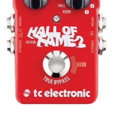 TC Electronic Hall of Fame 2 Reverb Guitar Effects Pedal True Bypass Stompbox NEW