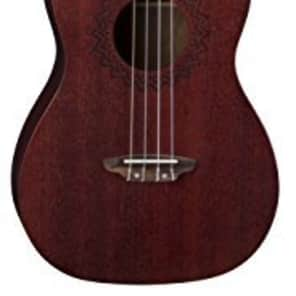 Luna Guitars UKE VMB RDS Luna Uke Vintage Mahogany Baritone - Red Satin for sale