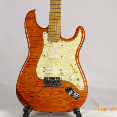 Jerzy Drozd Stratocaster 1996 Trans Amber-Orange for sale