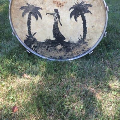 "Barry Drum MFG Co. Vintage 28"" Bass Drum 1930s"