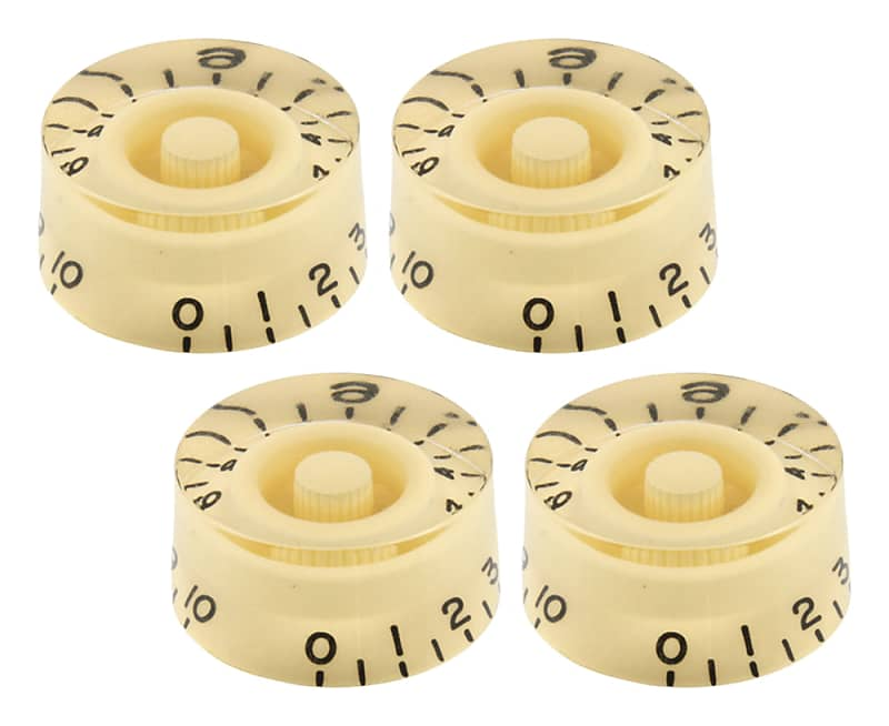 EMBOSSED *NEW* SET OF 4 CREAM SPEED KNOBS FOR GIBSON USA LES PAUL GUITAR POTS