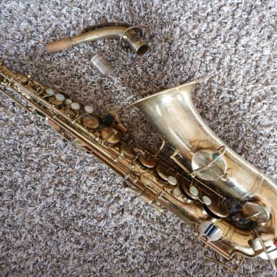 Buescher New Aristocrat Alto Saxophone Newer Pads-Nice Setup  Gold Most Snaps/Norton Springs