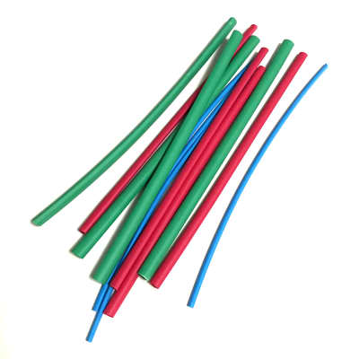 "Heat Shrink Tubing 4 Each - 1/16"", 1/18"", 3/16"" - 6"" Lengths"
