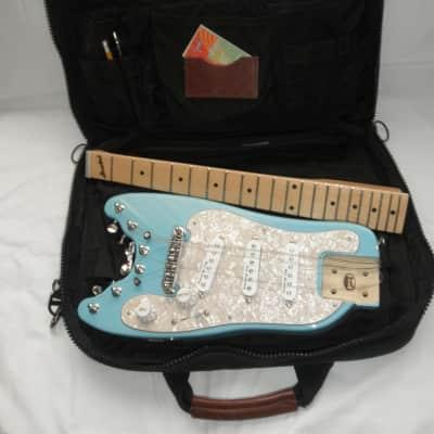 Rambler®   STROBELCASTER™  Plus Semi Custom Travel Guitar -  2018 Daphne Blue - Made in USA for sale