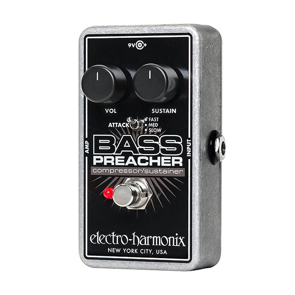 Electro-Harmonix EHX Bass Preacher Compressor / Sustainer Effects Pedal