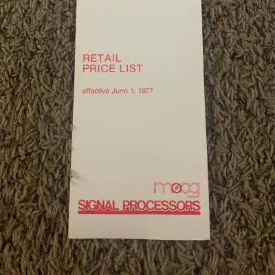 Maestro 1977 Price List