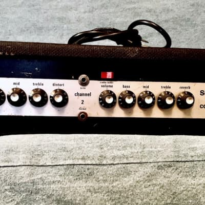 Sunn Concert Lead Guitar Amp Head (Silver Face) 1970s for sale