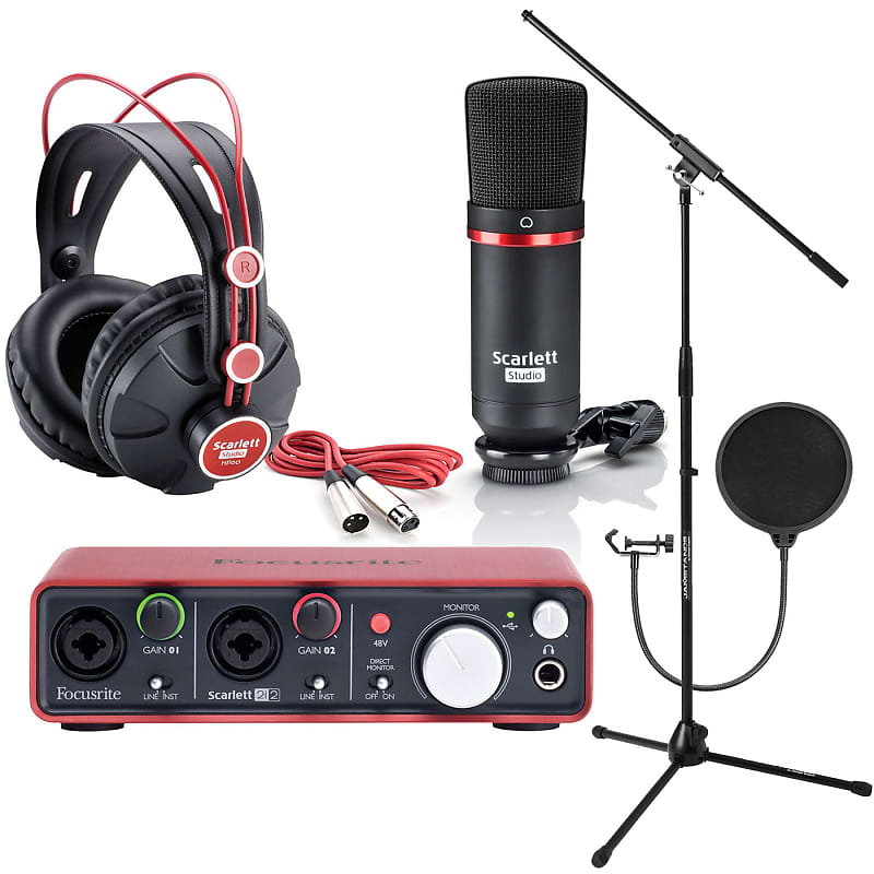 Focusrite Scarlett 2i2 Studio 2nd GENERATIon 2 in / 2 out USB 2 0 Recording  Interface with Microphon