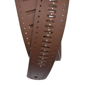 """Planet Waves 25PRF07 2.5"""" Vented Leather Guitar Strap"""