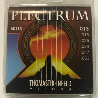 Thomastik Plectrum Hybrid Acoustic Guitar Strings, Medium, 13-61