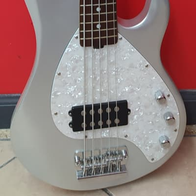 OLP MM3 5-String Bass licensed by Music Man 2010s Silver for sale