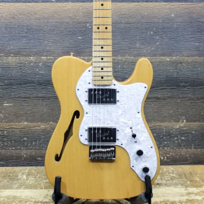 Fender '72 Telecaster Thinline Classic Series MIM Natural Electric Guitar w/Case for sale