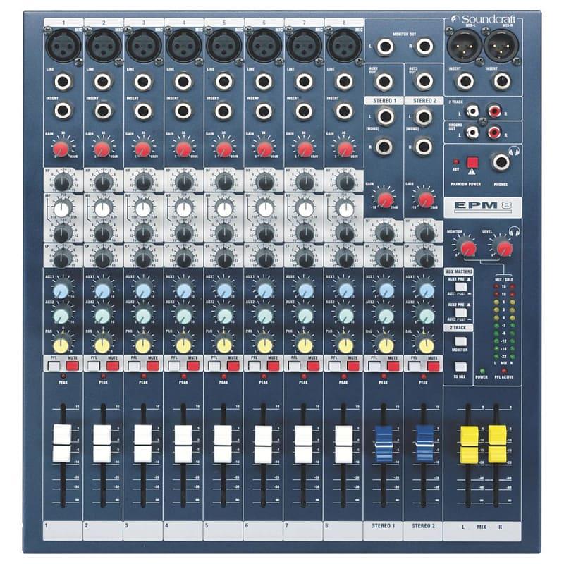 Soundcraft EPM8 8-Channel Multi-Format 8 Mono + 2 Stereo Analog Mixer Console